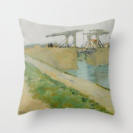 The Langlois Bridge Throw Pillow