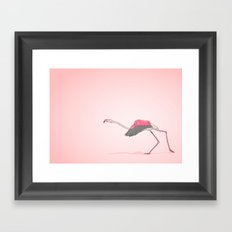 Running Flamingo Framed Art Print