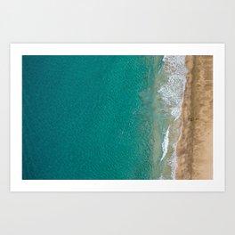 Kayaker on NaPali Coast Art Print