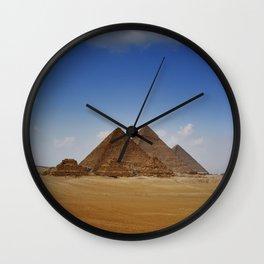 Pyramids of Giza Wall Clock