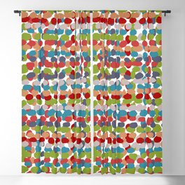 Speckled, Colorful Abstract Dot Pattern, Red, Blue, Green, Orange Blackout Curtain