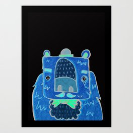 The Grizzly Gentleman Art Print