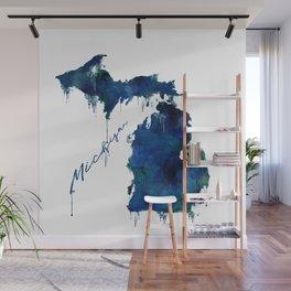 Michigan - wet paint Wall Mural