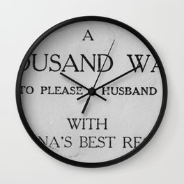 That's a lot of husband pleasing... Wall Clock