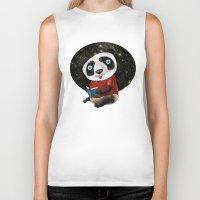 red panda Biker Tanks featuring Panda by gunberk