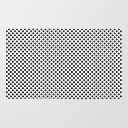 Jet Black Polka Dots Rug