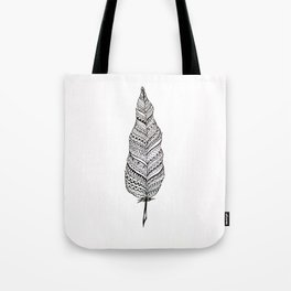 Aztec black and white feather Tote Bag