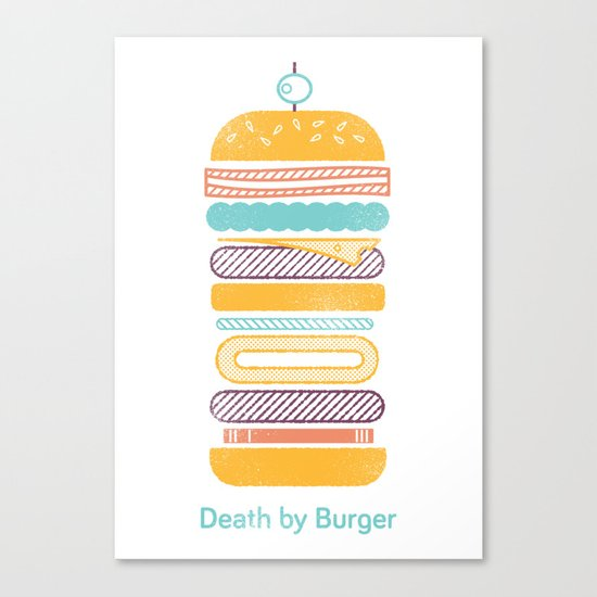 Death by Burger Canvas Print