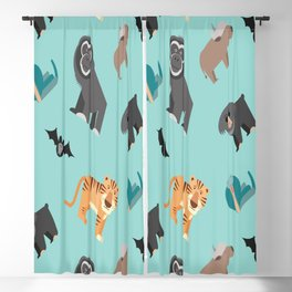 ASIAN JUNGLE ANIMALS PATTERN Blackout Curtain