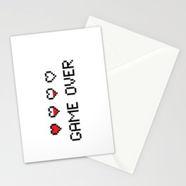 Game Over - Pixels Stationery Cards