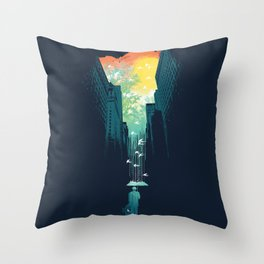 I Want My Blue Sky Throw Pillow