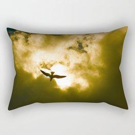 Golden Flight Rectangular Pillow