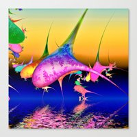 techno Canvas Prints featuring Techno pod by Shalisa Photography
