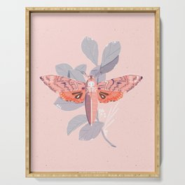 Death's Head Moth Print Serving Tray