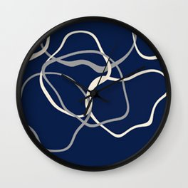 Abstract Lines Wall Clock