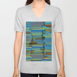 Abstract Composition 596 Unisex V-Neck