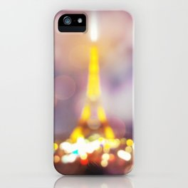 Abstract Eiffel Tower iPhone Case