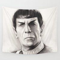spock Wall Tapestries featuring Spock by Olechka