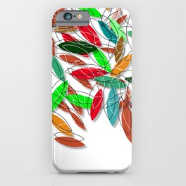 colored leaves iPhone Case