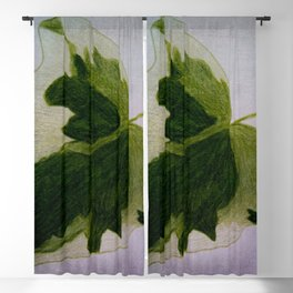 leaf drawing Blackout Curtain