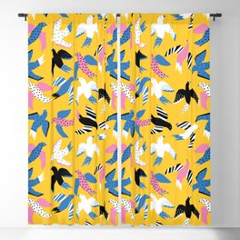 Tropical Birds Large Blackout Curtain