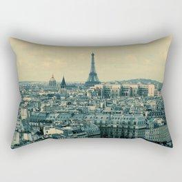 Paris In Blue Rectangular Pillow