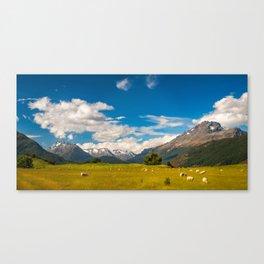 Beautiful Pastoral Alpine Landscape in New Zealand Canvas Print
