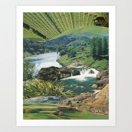 Rivers run Art Print