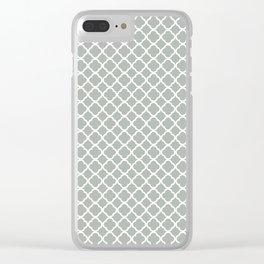 Quatrefoil in Silver Gray Clear iPhone Case