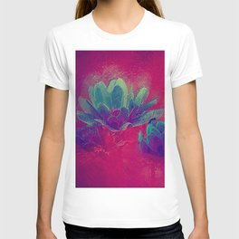 Abstract floral painting T-shirt