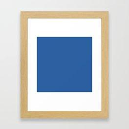 Lapis Lazuli Blue Framed Art Print