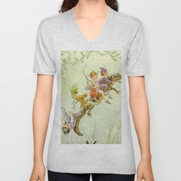 """The Pond Fairies"" by Margaret Tarrant Unisex V-Neck"