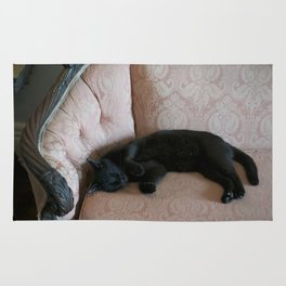 Hemingway's Cat on a Couch Rug