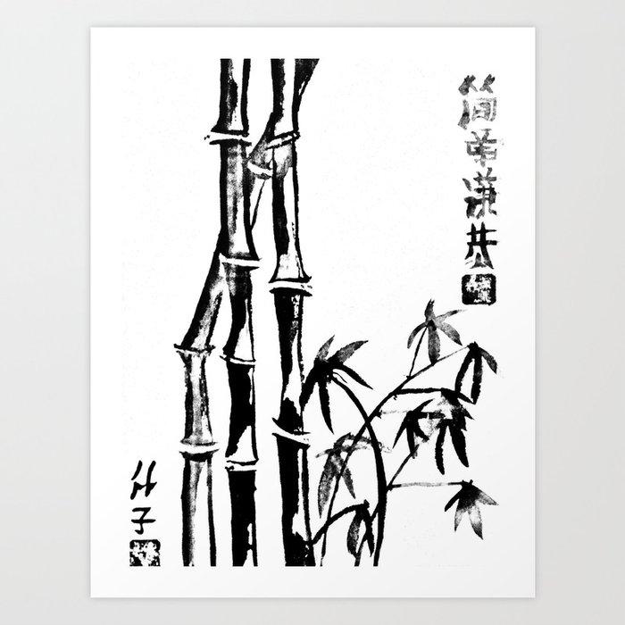 Bamboo Art Drawing