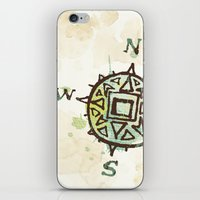 compass iPhone & iPod Skins featuring compass by JesseRayus