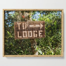 To Lodge Directional Woodsy Photo design Serving Tray