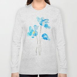abstract Himalayan poppy flower watercolor Long Sleeve T-shirt