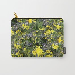 """"""" Curly Flower Pattern """" Carry-All Pouch"""