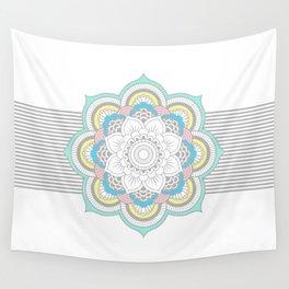 Pastel Mandala Wall Tapestry