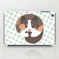 fat iPad Cases featuring Fat Fat the Cat! by Fat Fat