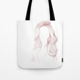 Red Wavy Hair Tote Bag