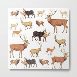 Deers Pattern Metal Print