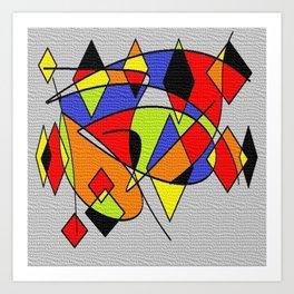Abs space grey Art Print