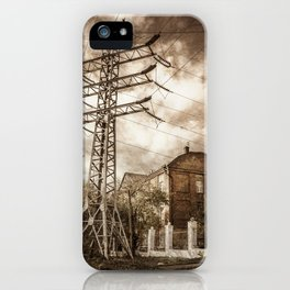 Old Powerstation iPhone Case