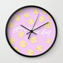 Squeeze The Day | Lemons Wall Clock