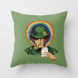 A Clockwork Sham(rock) Throw Pillow