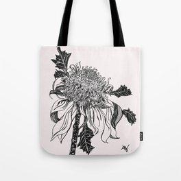 Australian waratah native flower Tote Bag
