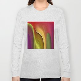 Tall And Short Colorful Abstract Long Sleeve T-shirt