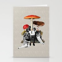 eugenia loli Stationery Cards featuring Upper Class Dealer by Eugenia Loli