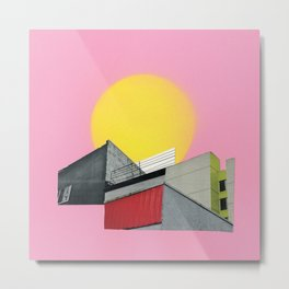 Neon Roof Top Metal Print
